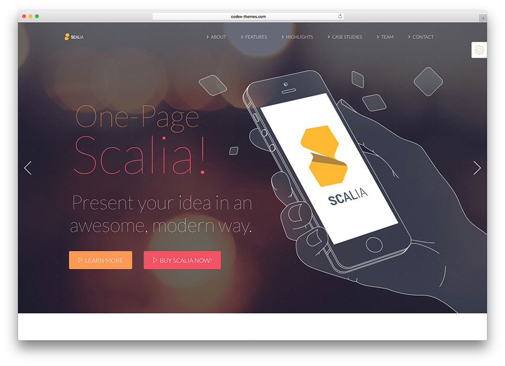 scalia - one page multipurpose theme