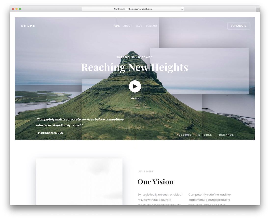scape best website template