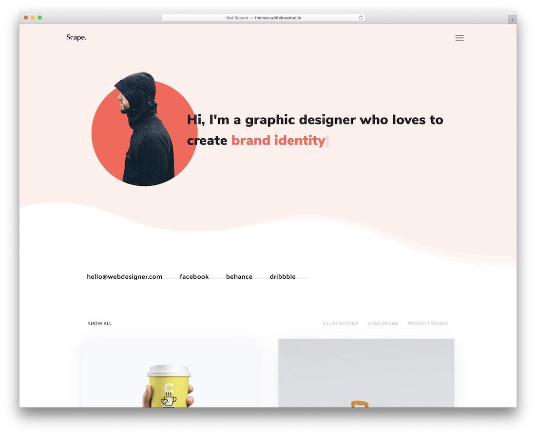 scape flat design wordpress theme