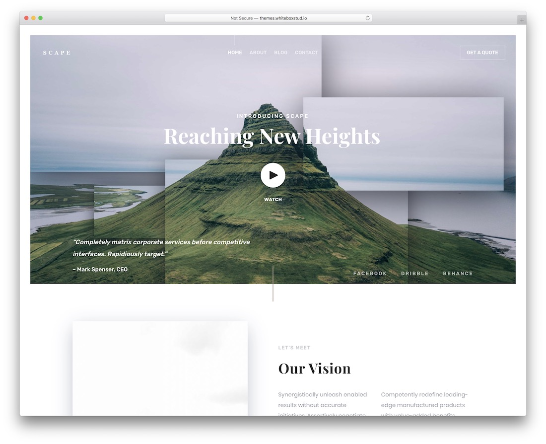 scape html5 wordpress theme