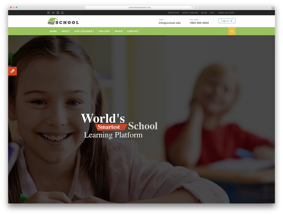 school moodle bootstrap template