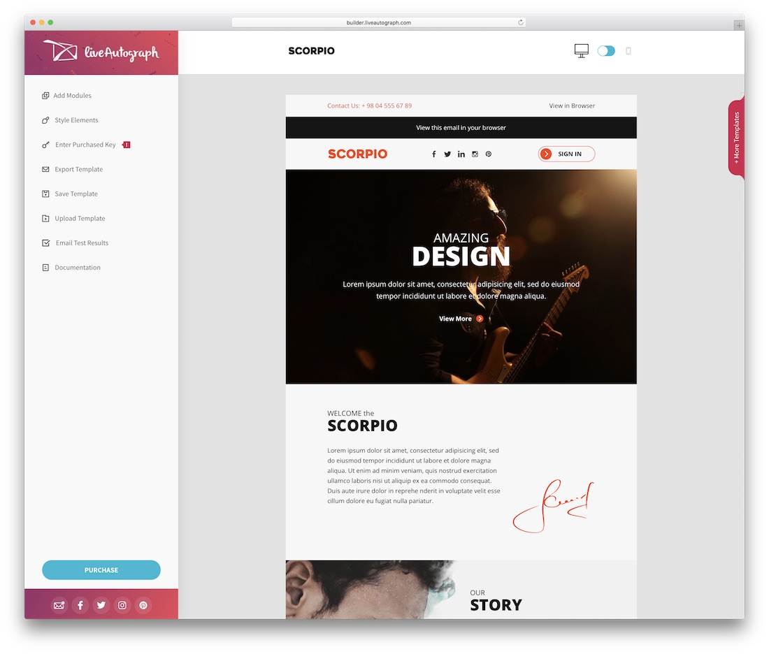 scorpio responsive html email template