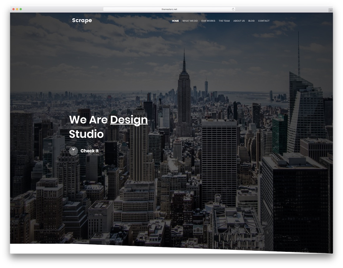 scrape designer website template