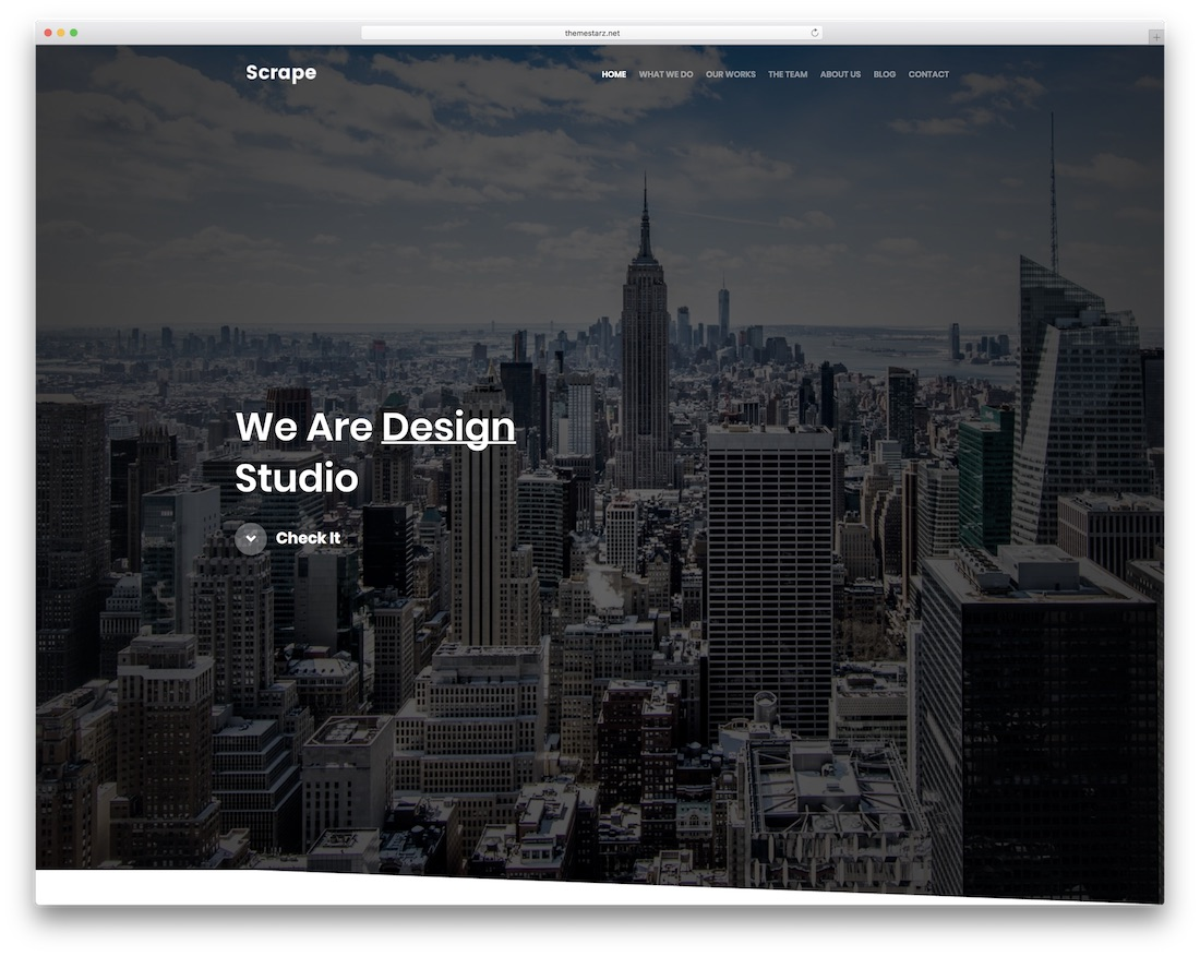 scrape gallery website template