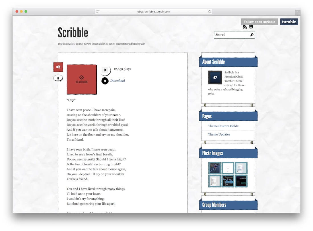 scribble tumblr theme