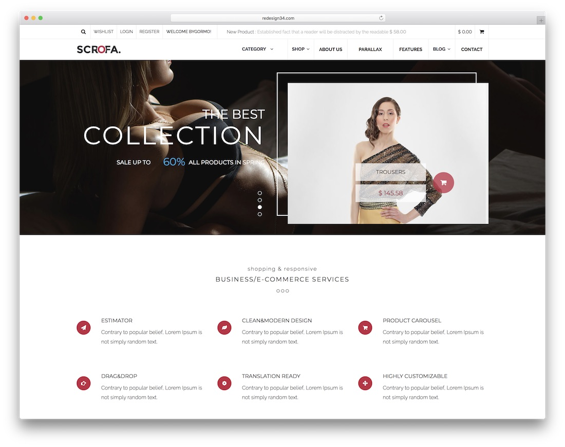 scrofa ecommerce adobe muse template