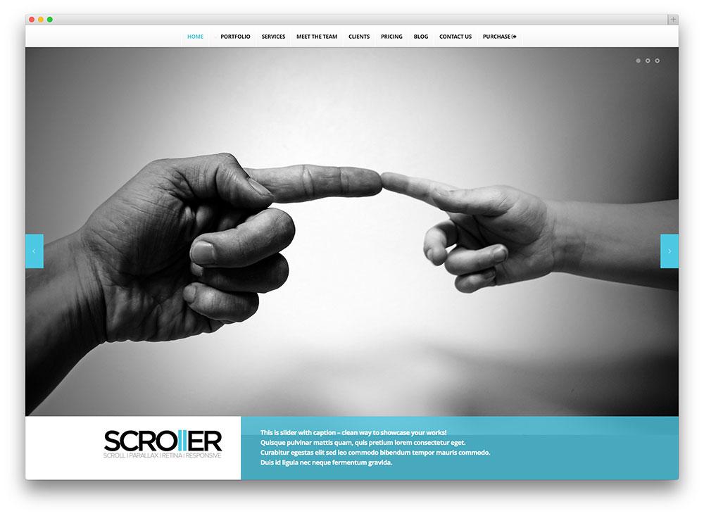 scroller multipurpose WordPress template