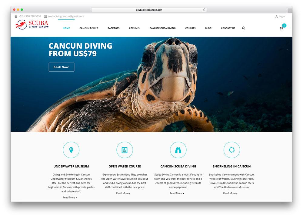 scubadivingcancun-scuba-diving-site-wordpress-example