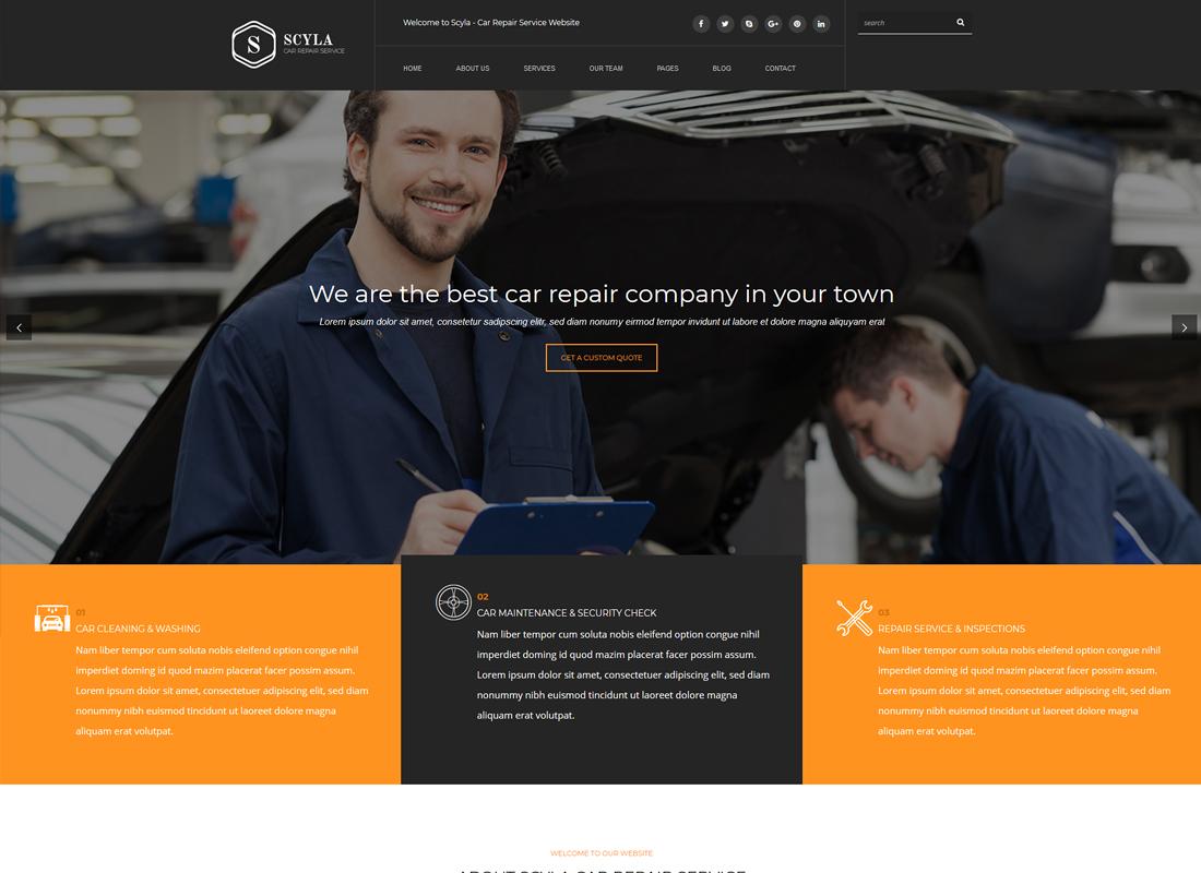 Scyla - Auto Mechanic & Car Repair WordPress Theme