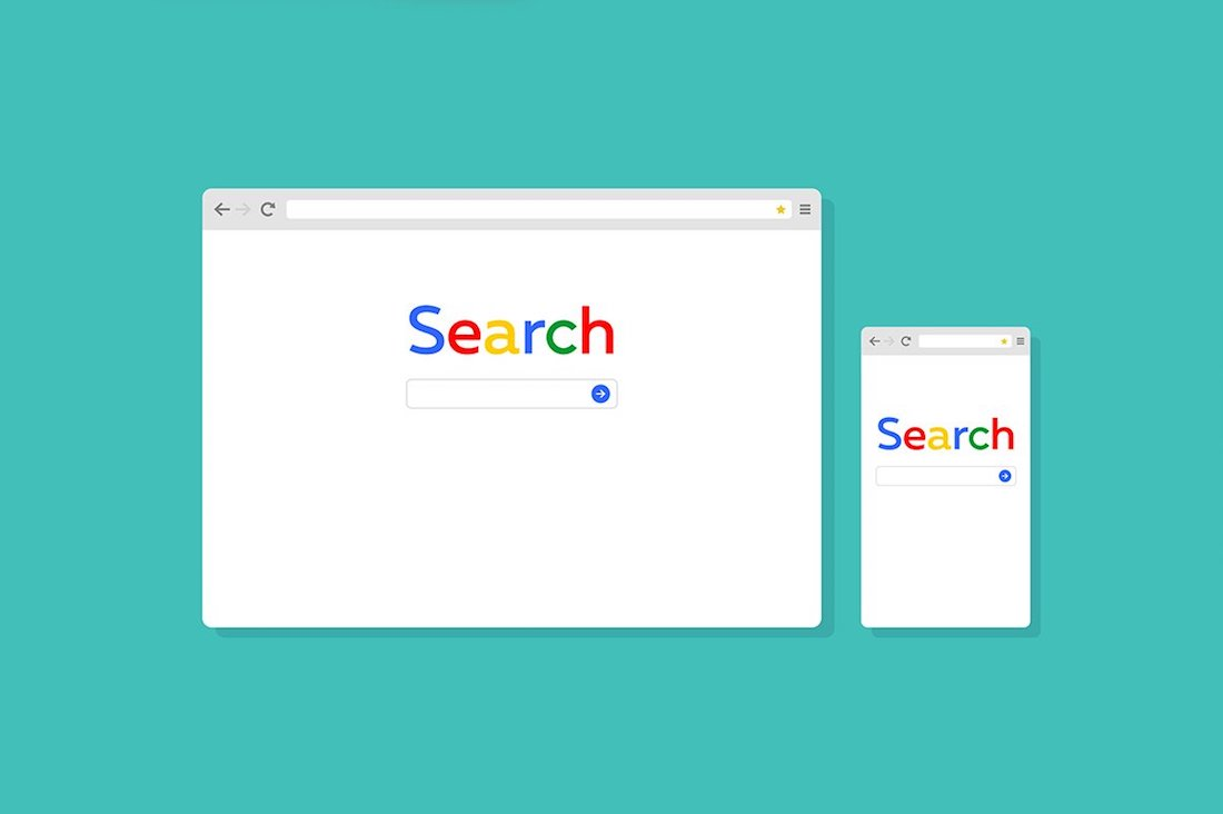 search-browser template illustration