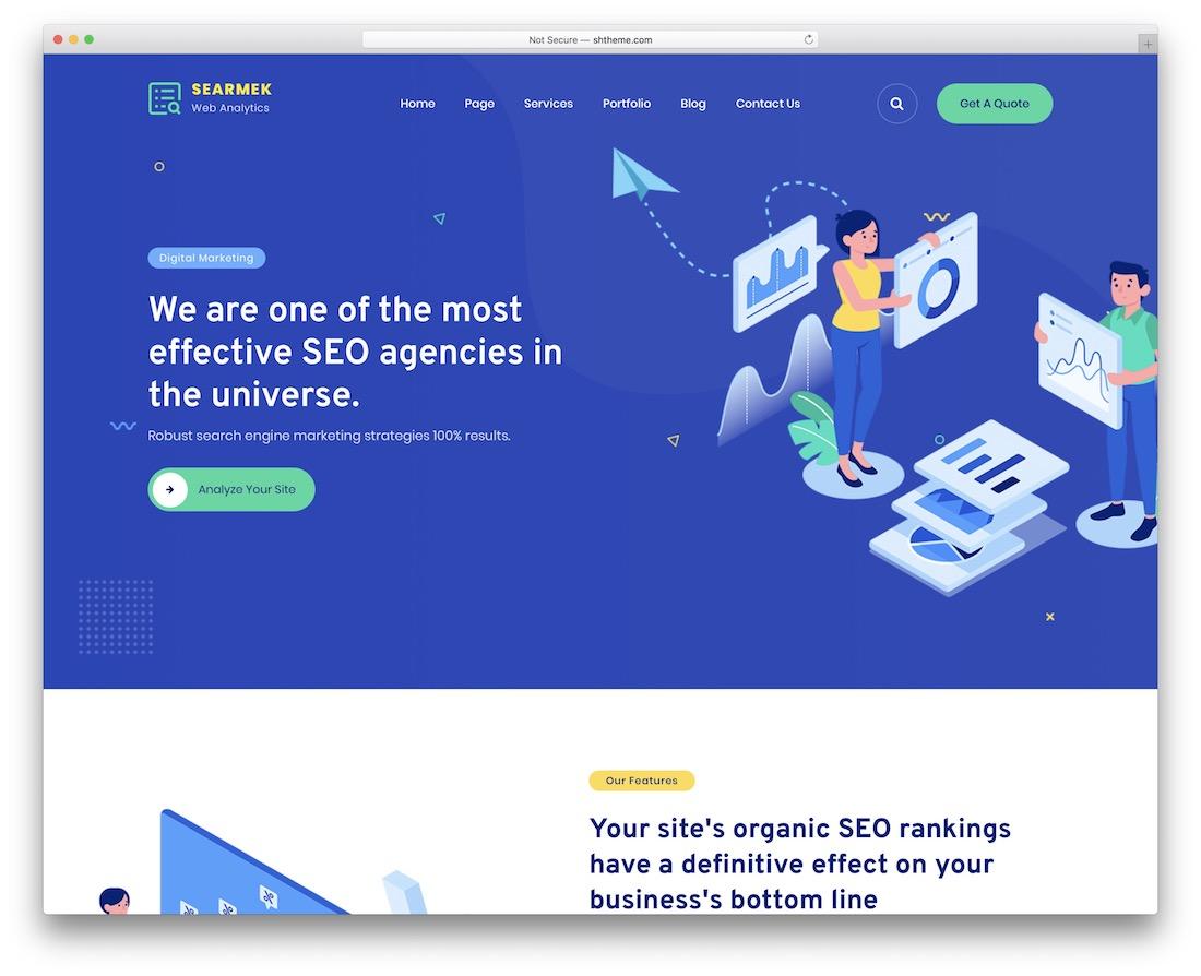 searmek seo agency wordpress theme
