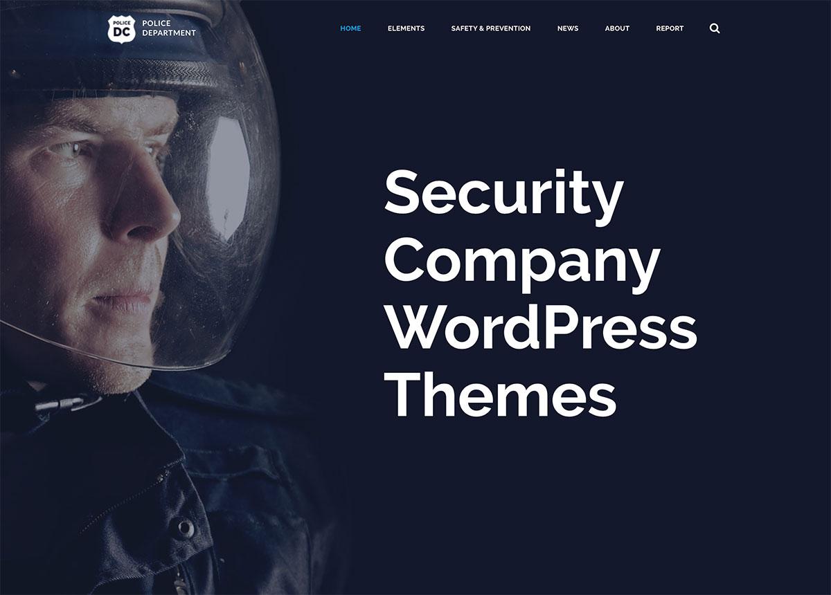 24 Best Security Company WordPress Themes 2019