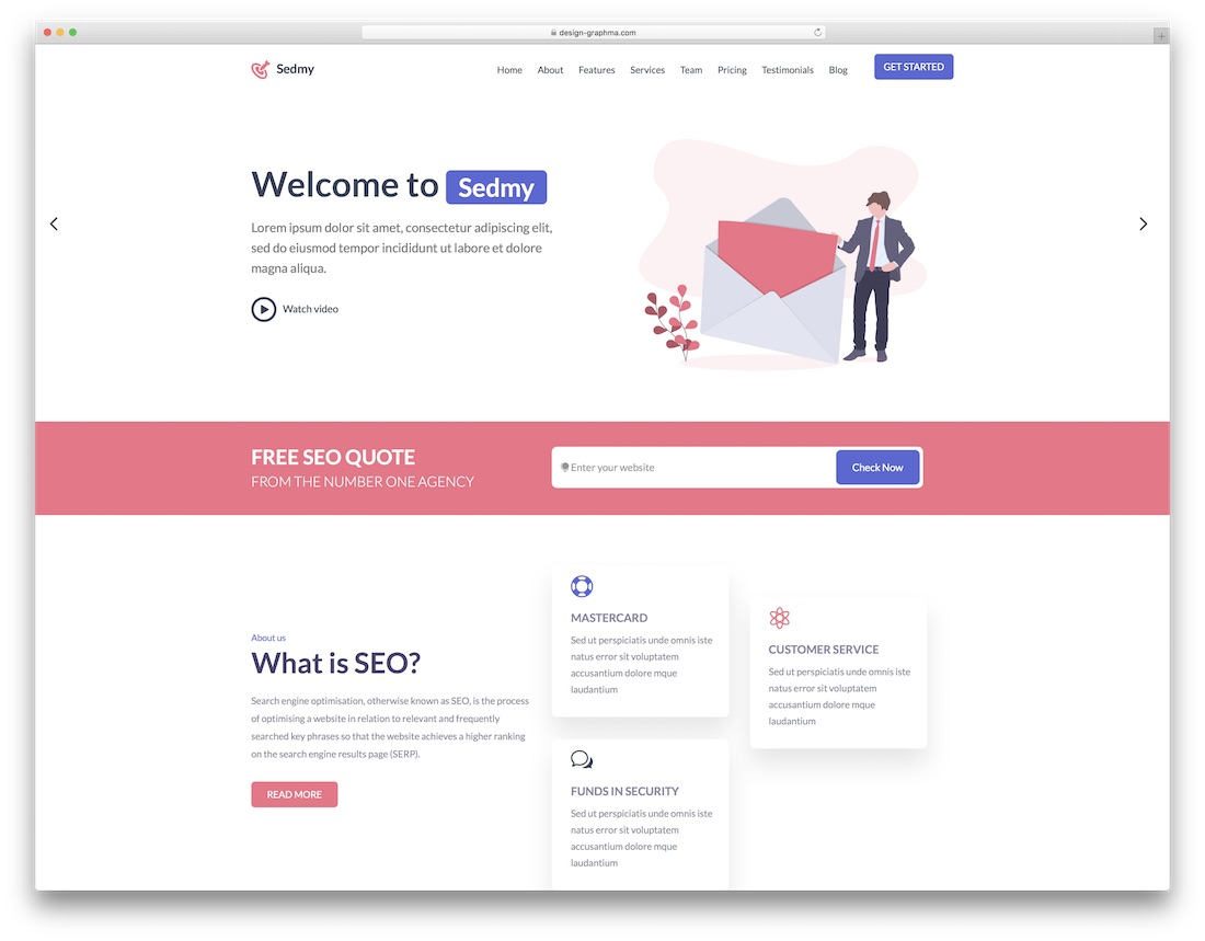 sedmy seo friendly website template