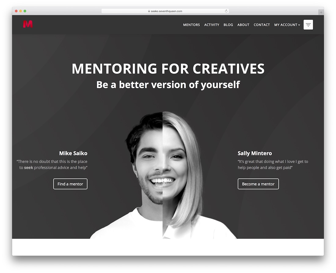 seeko membership wordpress theme