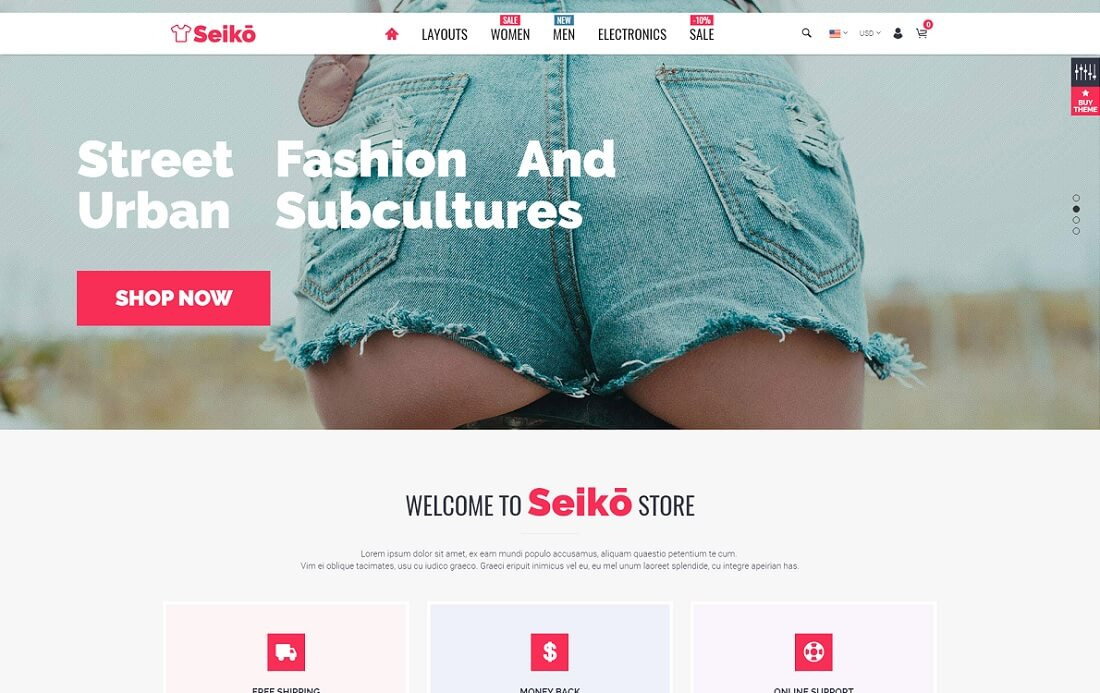 seiko fashion shopify theme