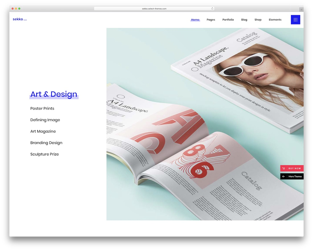 sekko creative wordpress theme