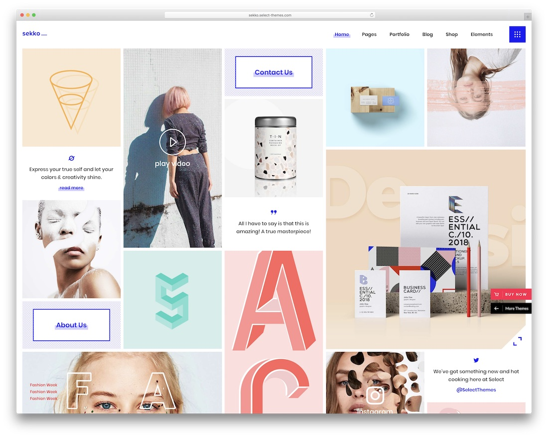 sekko wordpress theme for designers