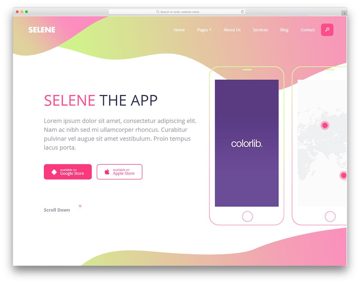 Скачать бесплатно html шаблон Selene