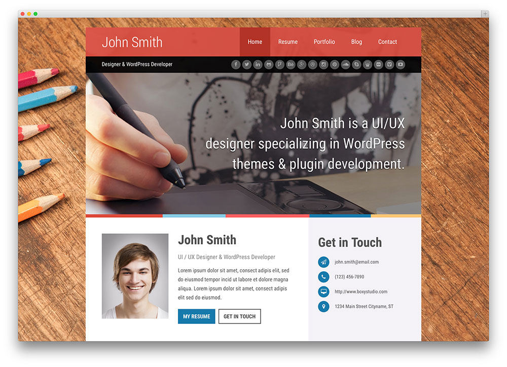 Quality WordPress Resume Themes   WP Solver