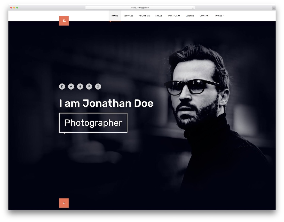 selfer dark wordpress theme