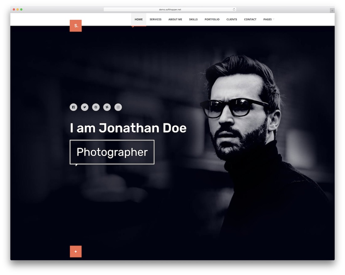 selfer simple wordpress theme
