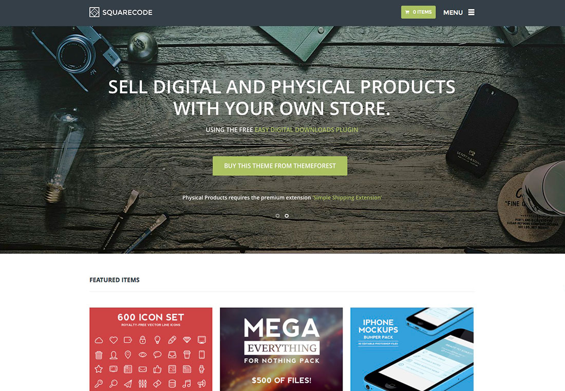 WordPress Theme For Selling Digital Products
