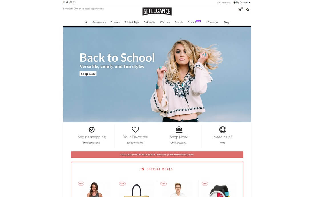 sellegance opencart theme