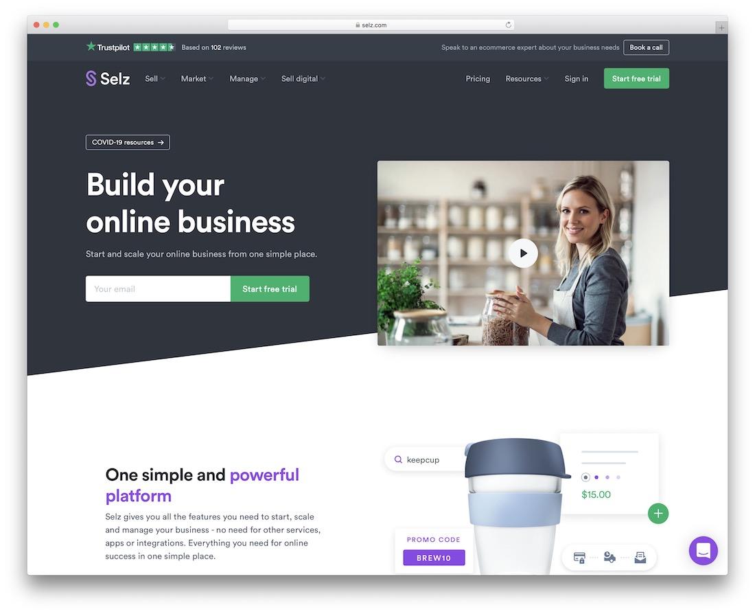 selz platform for selling digital product