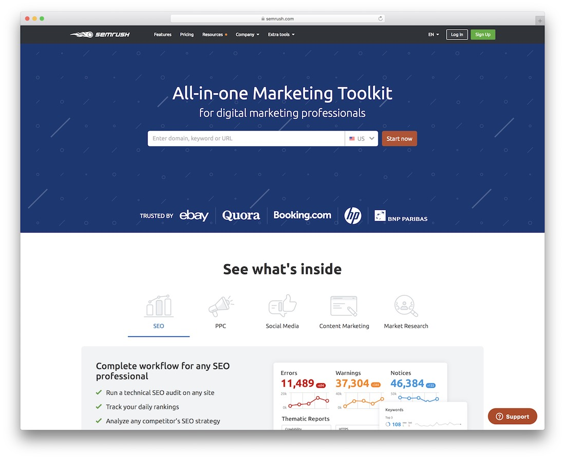 semrush free productivity tool