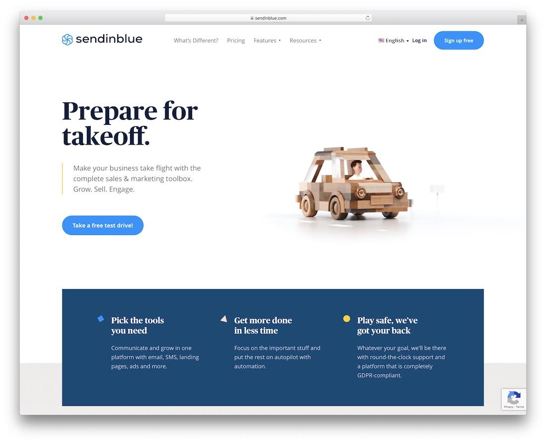 sendinblue email platform for developers