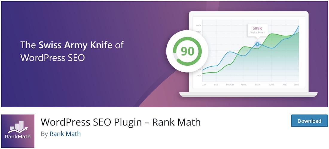 seo by rank math wordpress plugin