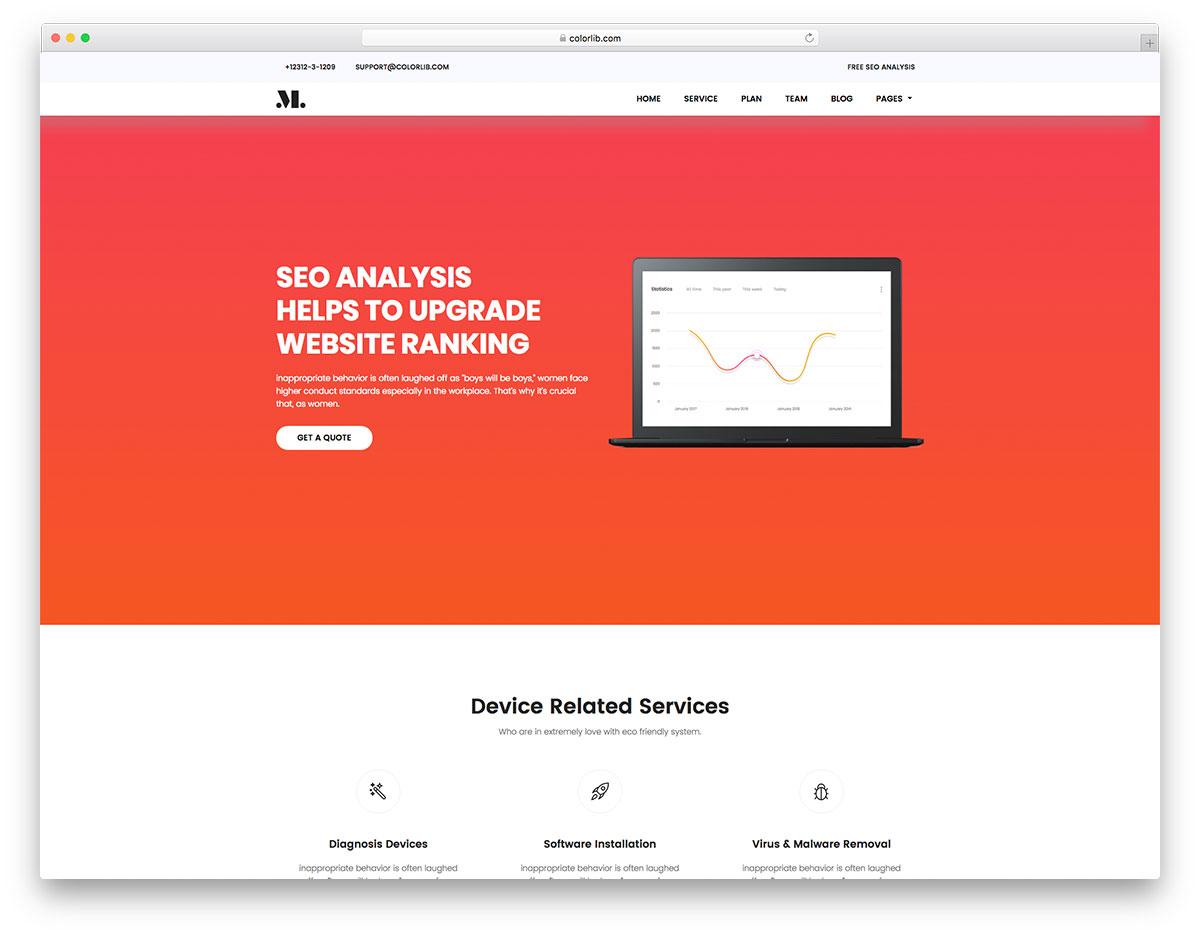 SEO - Free HTML SEO Agency Website Template - Colorlib