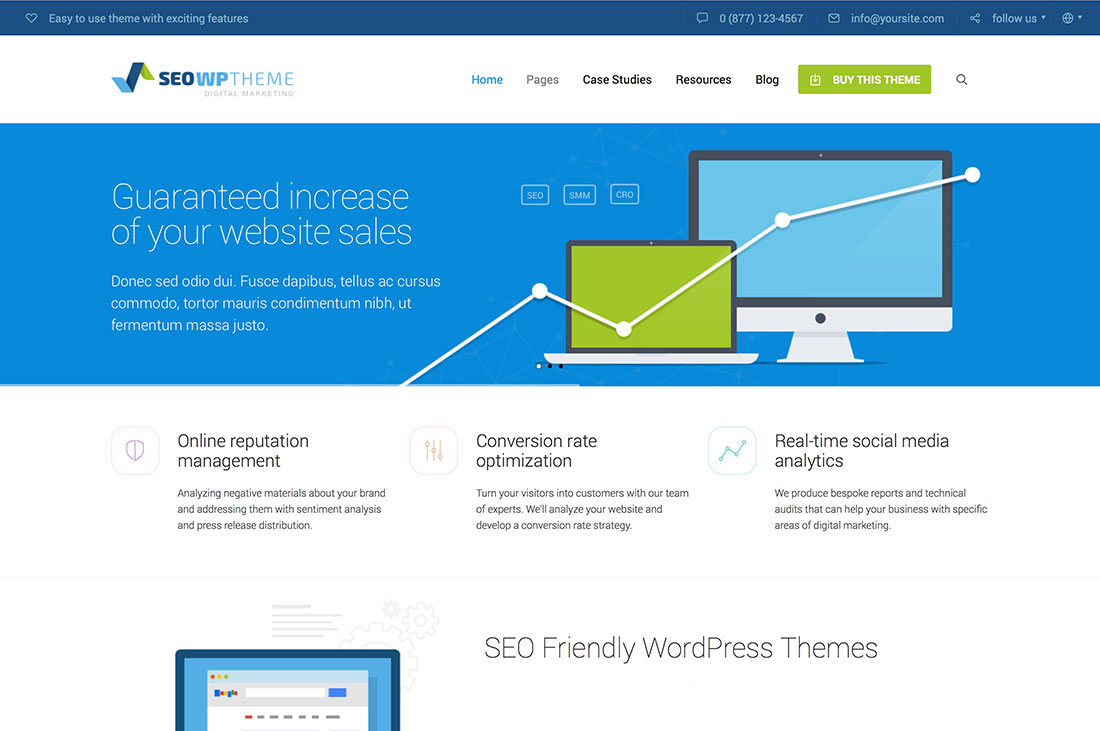 20+ Best SEO Friendly WordPress Themes For Company, ECommerce, Blog, Affiliate And AdSense Websites 2017