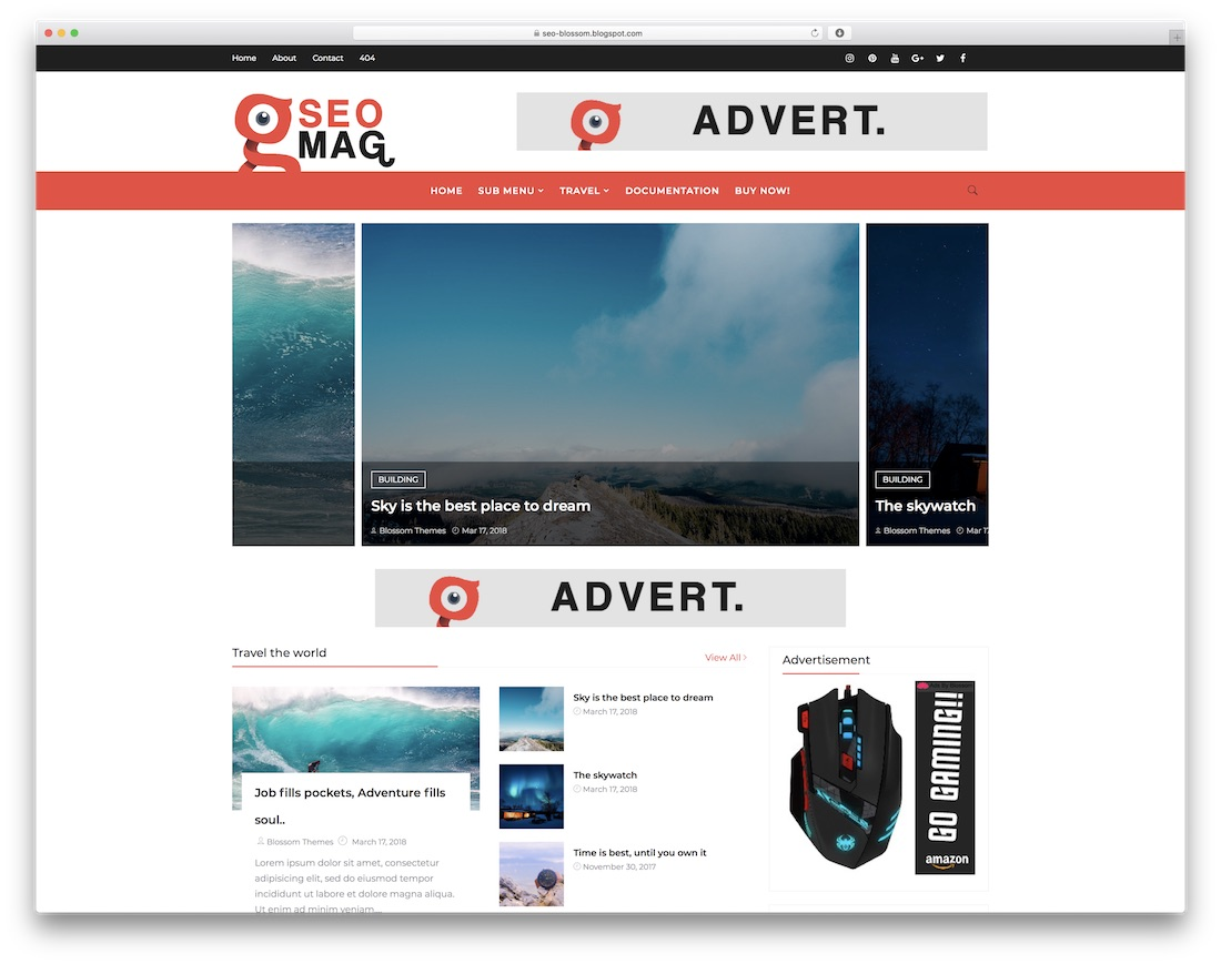 seo mag free blogger template
