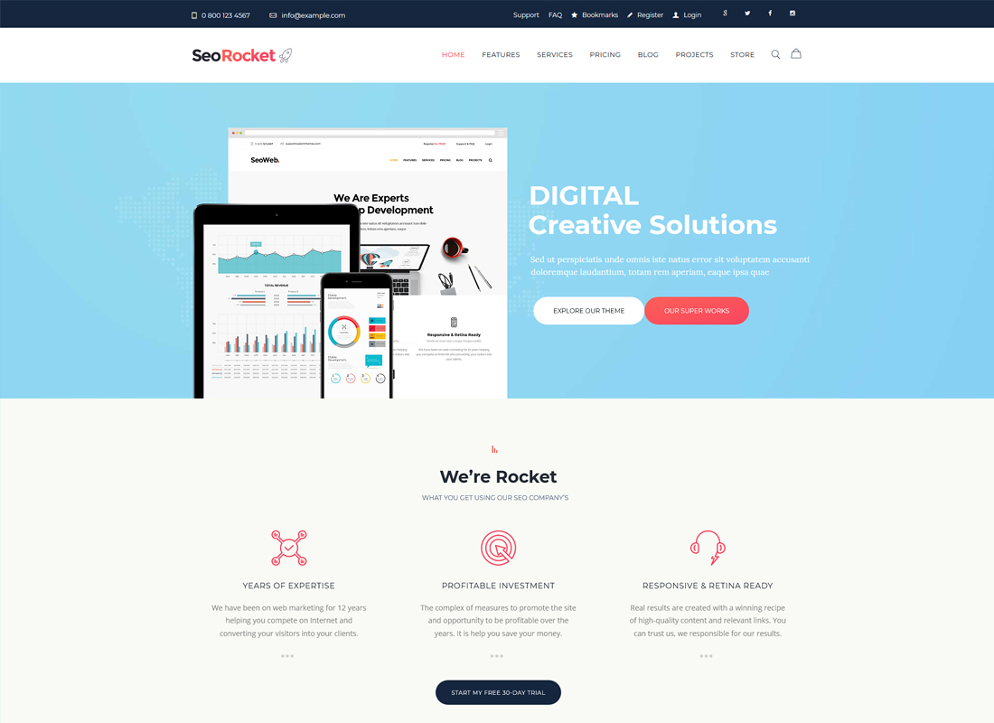 SEO Rocket | SEO & Marketing WordPress Theme