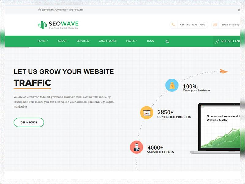 Seo Wave - WordPress Theme for SEO