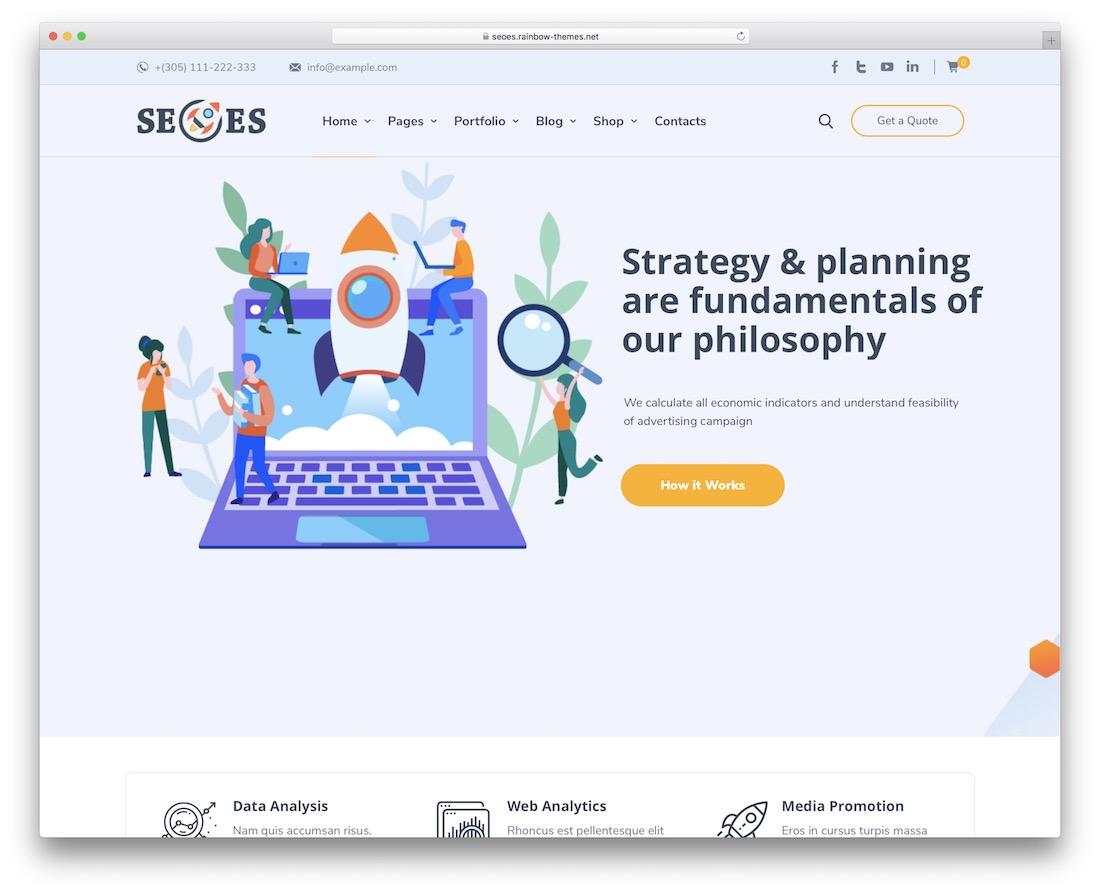 seoes seo agency wordpress theme
