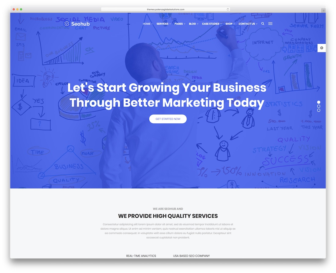 seohub marketing bootstrap business website template