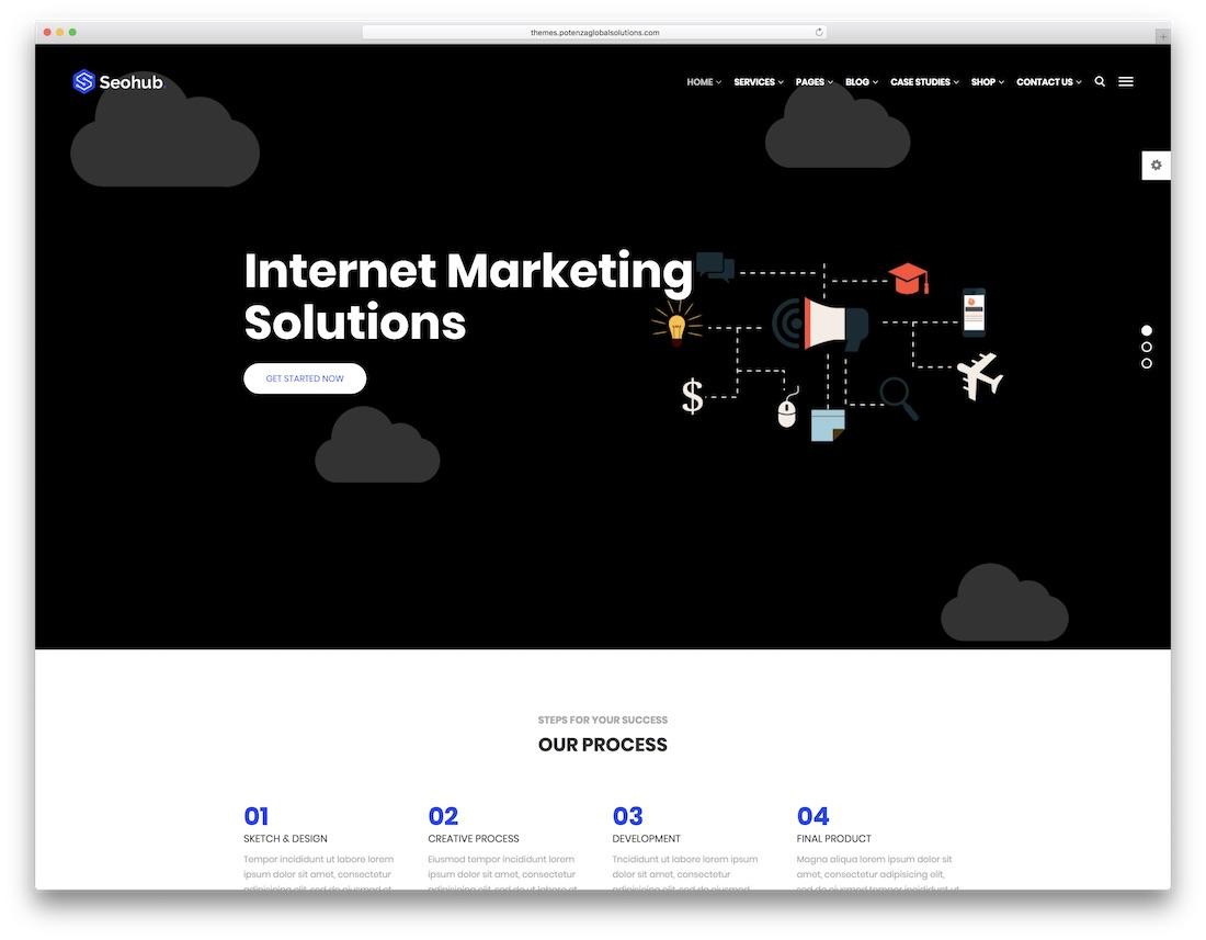 seohub marketing website template