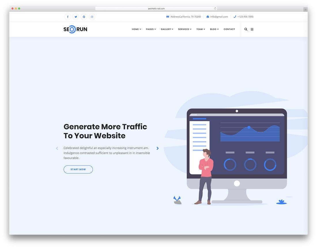 seorun marketing website template
