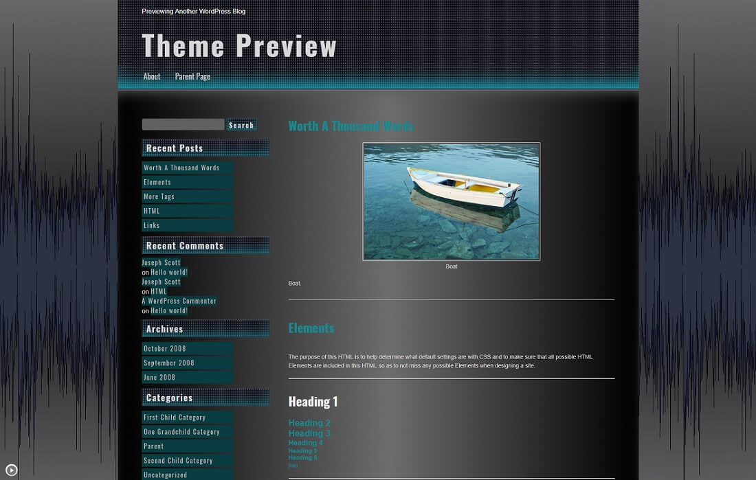 seos free music website template