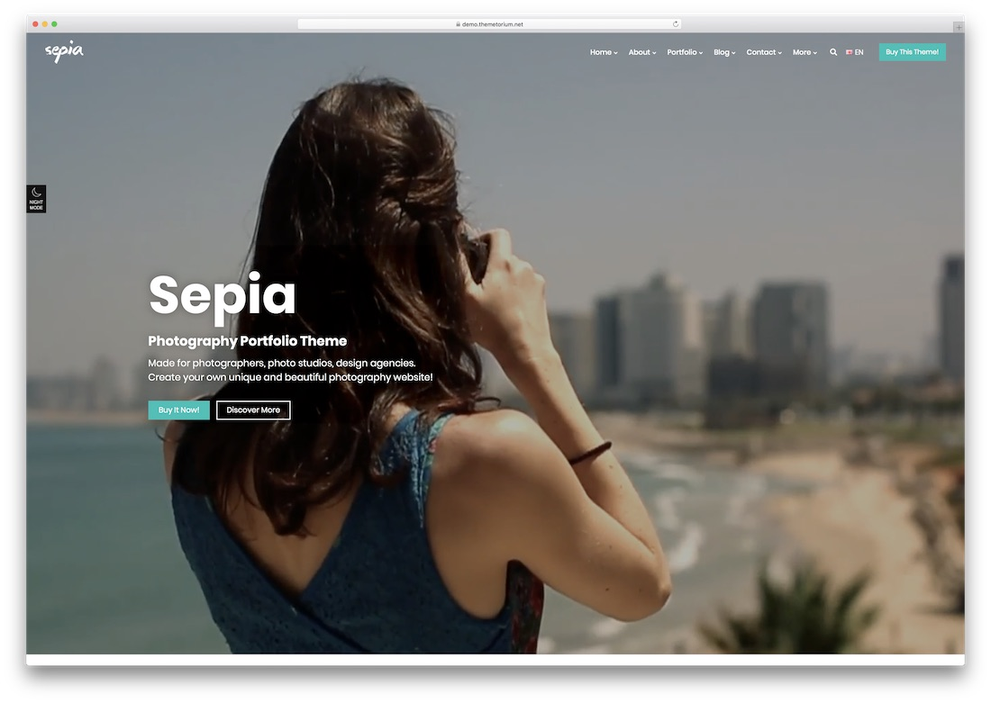 sepia photography website template