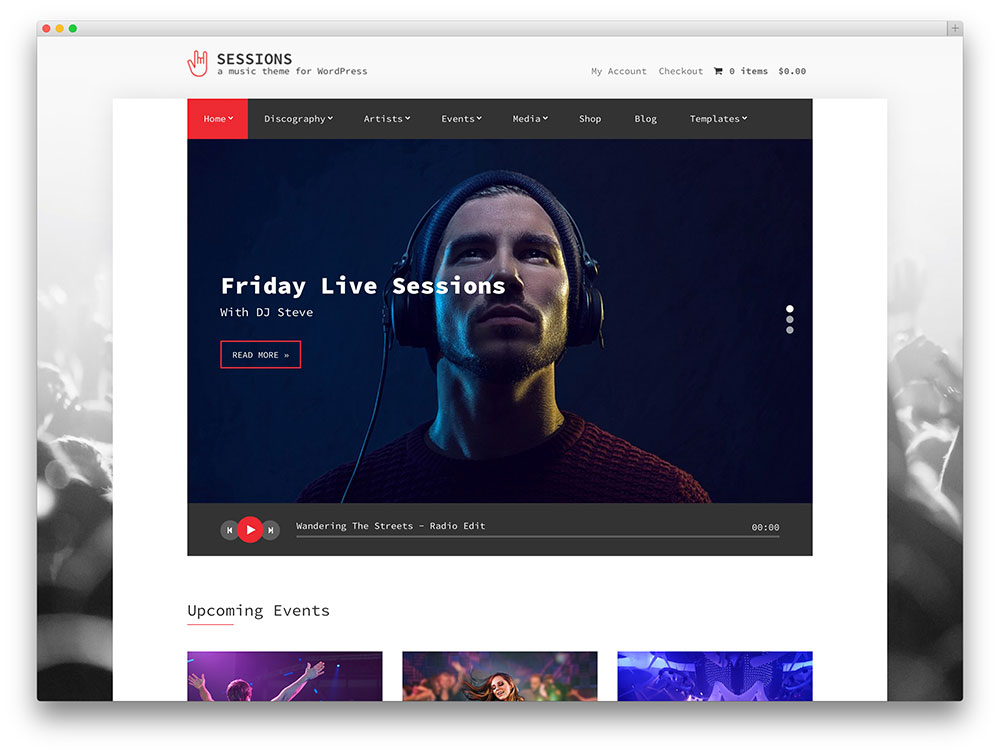 25 of the best wordpress themes for musicians 2018 colorlib session simple music theme maxwellsz