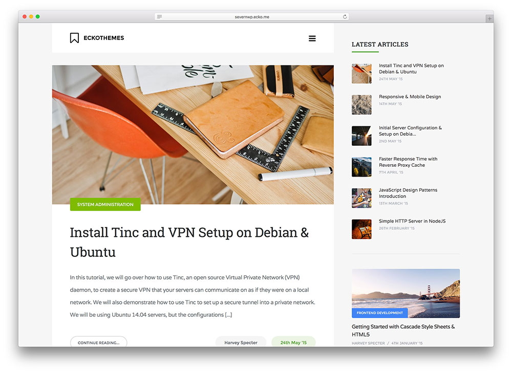 severn - simple blog theme