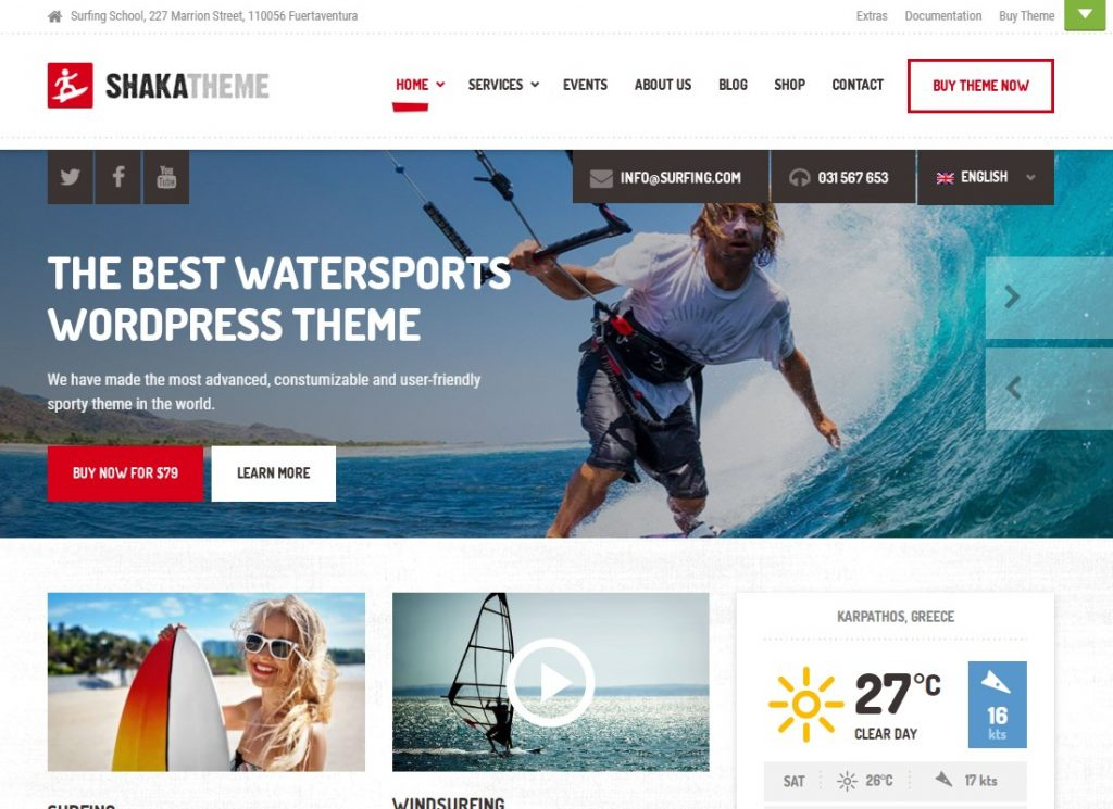 , Most Attractive Water Sports WordPress Themes to Use to Your Success, Rojak WP