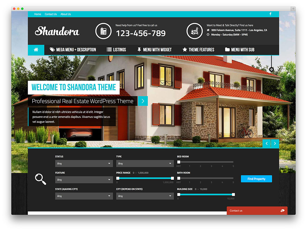 real estate listing website template