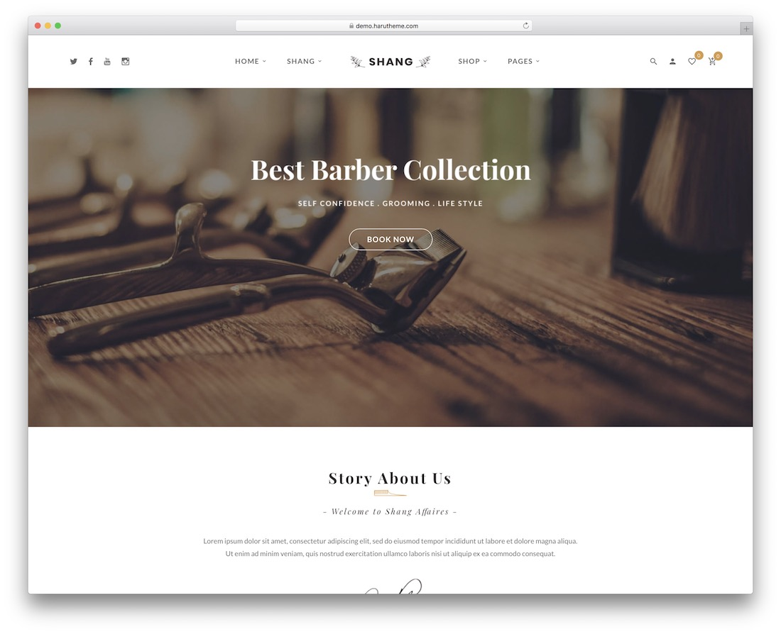 shang tattoo salon wordpress theme