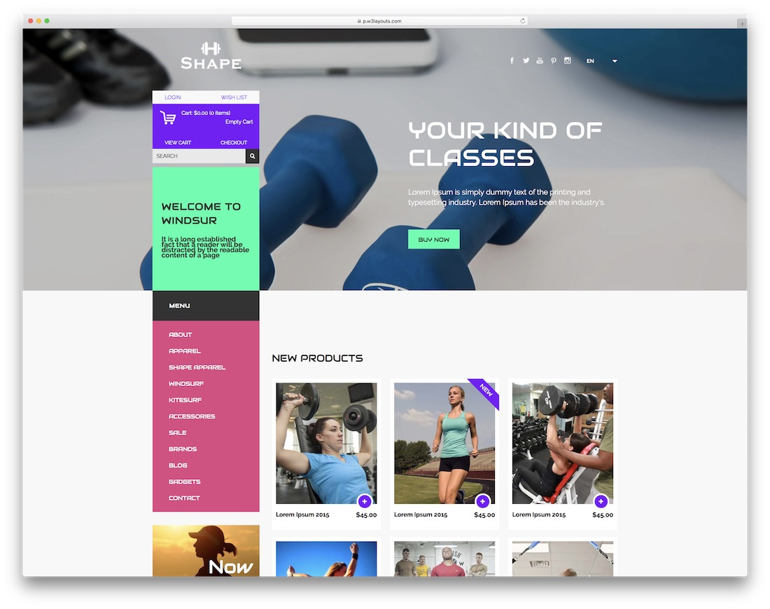 shape free bootstrap ecommerce website template