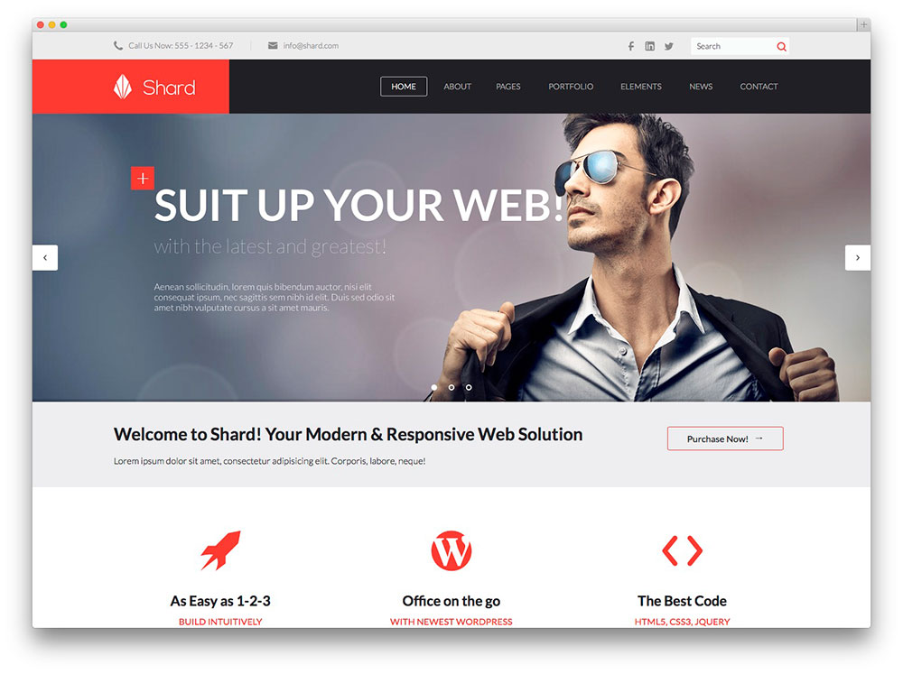 40 wordpress themes for it companies and tech startups 2018 colorlib shard it company theme friedricerecipe Images