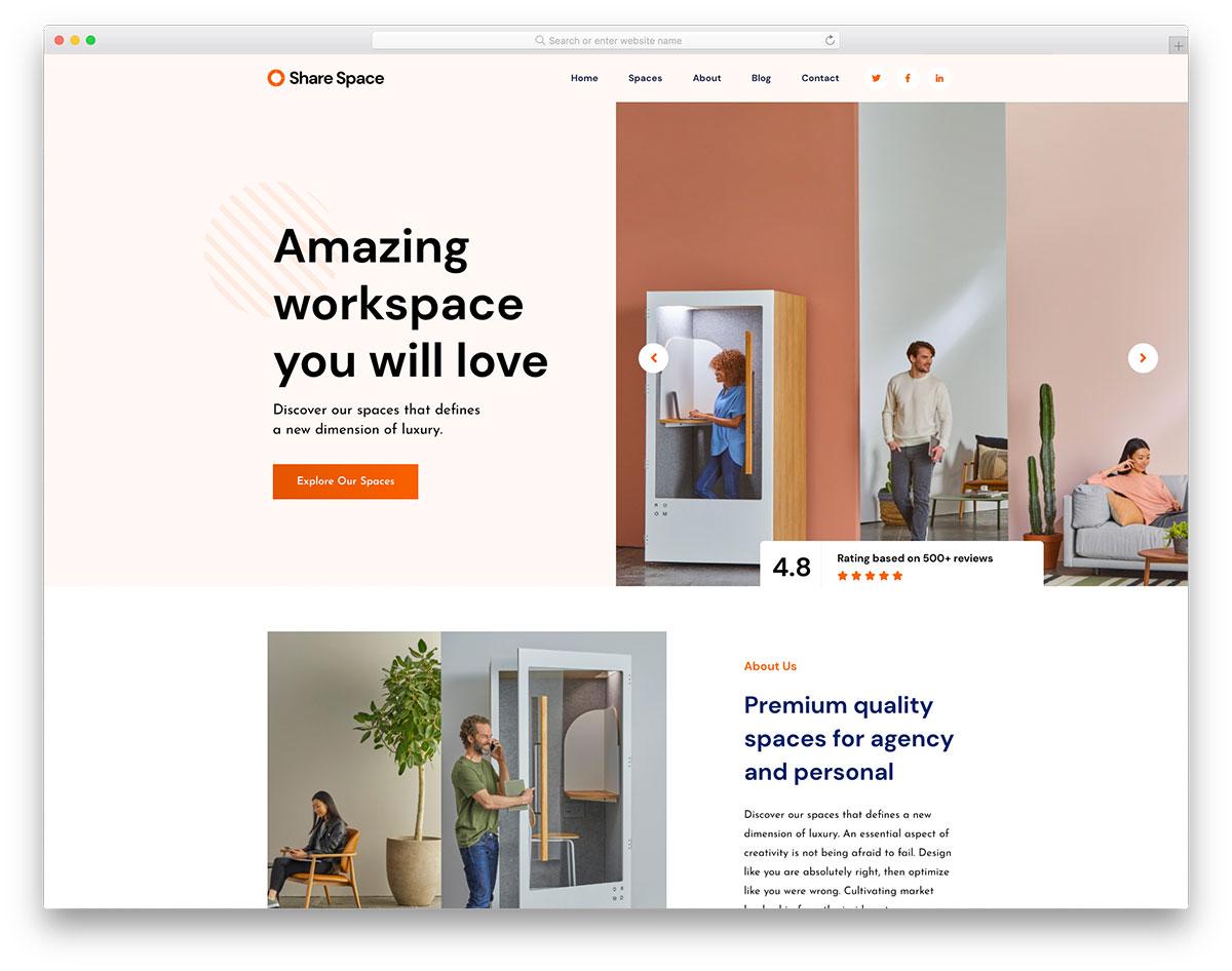 Sharespace Colorlib Template